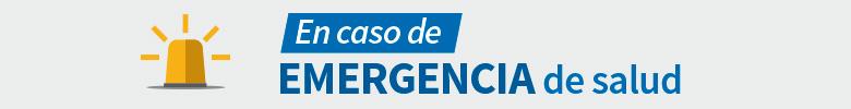 En caso de emergencia de la salud