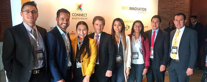 Facultad de Ingeniería participaron en el Open Innovation Summit Colombia en el marco de la Quinta Rueda Innova organizada por CONNECT Bogotá,