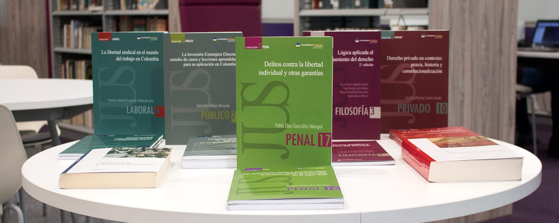 Libros de los profesores investigadores de Derecho