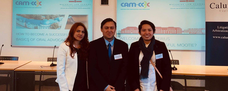 Estudiantes del semillero de propiedad intelectual presentes en Alemania