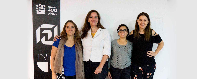 Myriam Stella Díaz Osorio y Elvia Isabel Casas Matiz de la Facultad de Diseño