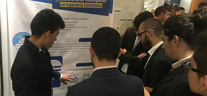 Poster Espectro y Aplicaciones de Redes 5G enColombia.